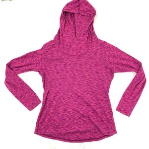 Columbia Cowl Neck Pink Hooded Sweater XL